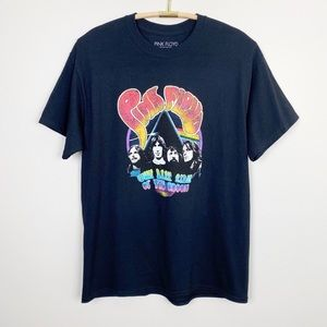 Tops - PINK FLOYD Oversized Graphic Band Tee L XL Black
